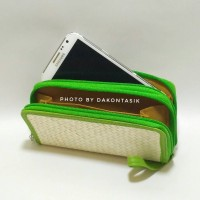 DT-1734 Dompet Android Model Sletting 2 Anyaman Pandan KhasTasikmalaya
