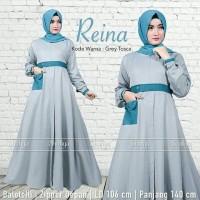 long dres wanita muslim gaun pesta hijab abu toska baju dres gamis