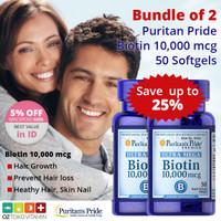 [BUNDLE 2 SALE 25%] Puritans Pride Ultra Biotin 10.000mcg 50 Softgel