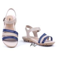 Jual Sepatu Sandal Wanita Platform Ankle Strap AD07 Navy Murah