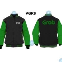 Jaket Sweater Grab Bike model Varsity Zipper VGR6