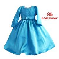 model gamis anak-anak Baju Muslim Anak Perempuan BIRU AGD3098