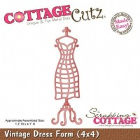 Cottage Cutz Dies - Vintage Dress Form