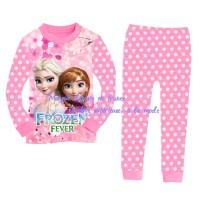 Pakaian baju celana setelan tidur anak cewe perempuan bayi frozen