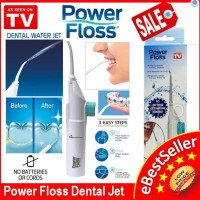 Jual Power Floss Dental Water Jet Portable / Alat Semprot Pembersih Gigi Murah