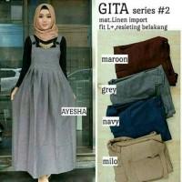 Gita Overall/Dress Hijab/Jumpsuit/Hijab Fashion/Grosir Baju Cewek
