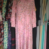 Baju Gamis Pink Bunga Kecil