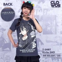 Kirito SAO Kaos-Baju Distro Anime-Manga Sword Art Online
