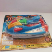 Mainan Jet Ski /Jet Ski Water Sport Free Baterai AA