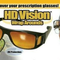Kaca Mata HD Vision Wrap Around 2 in 1/Kaca Mata Siang Malam Set isi 1