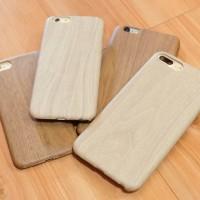 Jual Casing Kayu (Slim) Case Wood Premium iPhone 7, 7 Plus Silicone Thin Murah