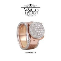 Cincin Berlian Wanita Cincin Emas Putih Cincin Tunangan DR001073