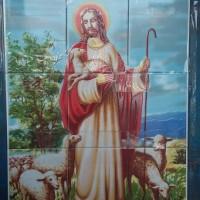foto yesus dengan domba 74x60cm