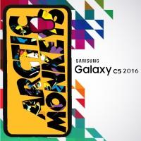 Arctic Monkeys Logo Orange Background 0188 Custom Case for Galaxy C5 2