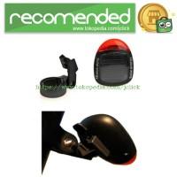Solar Bicyle Taillight Warning Light / Lampu Rambu Sepeda - Black