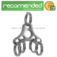 UFO Expand Suspension Clip Key Ring with Triangle Buckle - Silver
