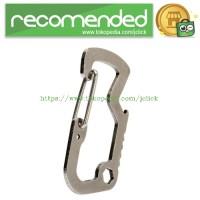 Versatile EDC Carabiner Stainless Steel with Bottle Opener - Silver