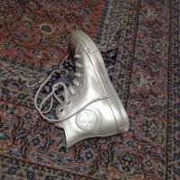 ORI RARE Converse Gold Metallic Rubber Hi Top Shoes /Sepatu Converse