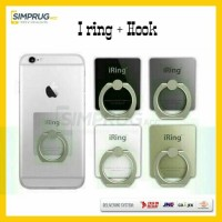 I ring + Hook Stand Holder Gantungan Cincin HP Tablet Handphone Iring