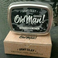 Jual Pomade Oh Man Army Clay The Proffesional Matte Waterbased | Free sisir Murah