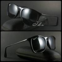 Obral Kacamata Outdoor vintage Ray-ban Cris hitam Glossy Murah