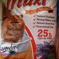 MAXI CAT SAND Repack 1 Kg, Pasir Gumpal Wangi