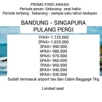 Tiket Pesawat Bandung Singapura