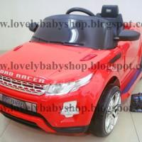 MA01 # Mobil Aki Accu PMB Range Rover Besar Remote Control MP3 Lampu