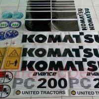 Decal / Sticker kit untuk Excavator KOMATSU type PC 200 avance (tulisa