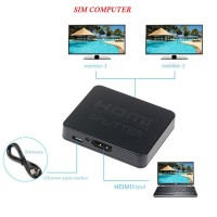 HDMI Splitter 1x2 1 in 2 Out Full 3D 4k Repeater Amplifier (Lose Pack