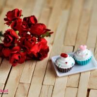 Miniatur Rement Cupcake aksesoris barbie
