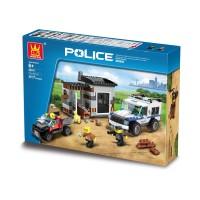 Mainan Lego Wange Police 52011 - POLICE DOG unit 380pcs