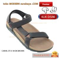 harga No 43 Carvil St 01 M Dk Brown Sandal Footbeed Pria Casual Sopan Tokopedia.com