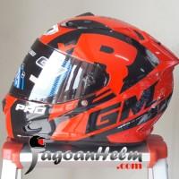 GM Helm Race Pro ZR650 Dark Single Visor Motif RacePRO