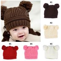 Topi Kupluk Anak Bayi Rajut - Beruang / Bear Baby Hat