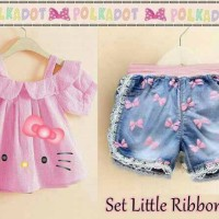 Dc Baju Anak Kecil Lucu Set Little Ribbon Kitty