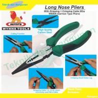 Long Nose Pliers / Tang Lancip Wynn's W906N (Stripping + Crimping)
