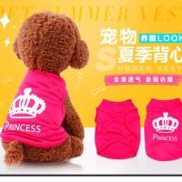 baju tshirt anjing princess pink
