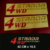 Sticker 4wd strada intercooler turbo mitsubishi l200 triton
