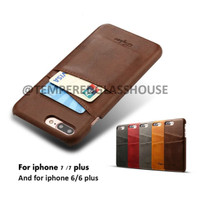 Jual Premium Leather / Kulit Case Card Slots iPhone 6 / 6s / 6+ / 7 / 7+ Murah