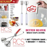 BETTER BEATER ~ PENGOCOK TELUR ~ MIXER MANUAL ~ 1 Set 2 Pcs A1491