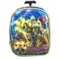 Jual Tas Troley Sekolah Anak PG Transformer Bumblebee 5D Gambar Rubah2 Murah