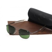 Kacamata Sunglasses AMERICAN OPTICAL AO Pilot Skymaster Black
