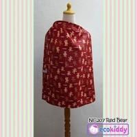 Jual Nursing Cover Apron Penutup Celemek Menyusui Ecokiddy RED BEAR Murah