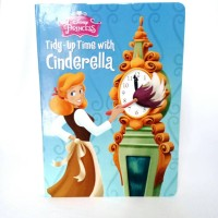 Buku Cerita Dongeng Anak Disney Import - Tidy up Time with Cinderella