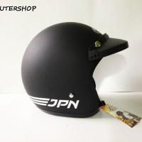 Helm Bogo JPN ARC Retro Klasik Black Doff Solid + Pet