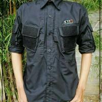 Baju Kemeja Pria/Kemeja Tactical/Pakaian Outdoor/Atasan/Kemeja Hitam