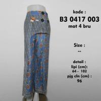 celana batik panjang biru / ootd hijab / kulot batik b30417003mot4