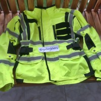 Jaket motor harley a1am gear hivis high visibility stabilo SECOND