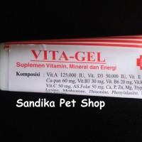 VITA-GEL / VITAGEL Vitamin Anjing , Kucing , Hamster , Iguana 50 Gram